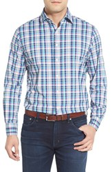 Men's Peter Millar 'Crown Sport Plaid' Regular Fit Long Sleeve Sport Shirt
