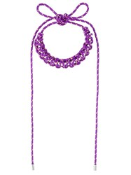 Isabel Marant Tangled Long Necklace Pink And Purple