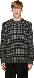 Acne Studios Black And White Kite Check Sweater