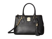 Calvin Klein Elana Pebble Satchel Black Gold Satchel Handbags