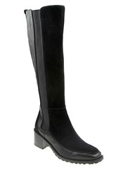 Nina Time Leather Knee High Boots Black