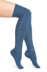 Stance 'Revival' Supima Cotton Blend Over The Knee Socks Blue