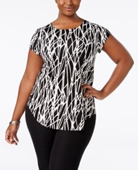 Alfani Plus Size Printed T Shirt Only At Macy's Vertical Shapes