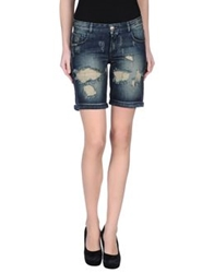 Hydrogen Denim Bermudas Blue