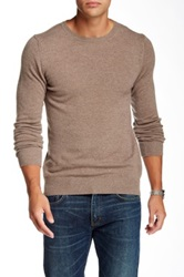 J. Lindeberg Crew Neck Kashmerino Sweater Brown