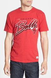 Men's Mitchell And Ness 'Chicago Bulls Script' Tailored Fit Graphic T Shirt
