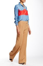 L.A.M.B. Double Crepe Bell Bottom Pant Brown