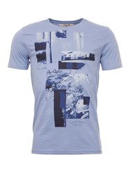 Garcia Printed T Shirt Blue