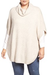 Sejour Plus Size Women's Cowl Neck Poncho Style Sweater