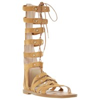 Dune Lahlia Gladiator Calf Sandals Tan