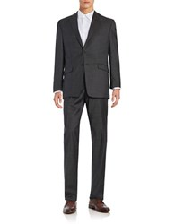 Lauren Ralph Lauren Ultraflex Wool Pincheck Suit Black White