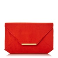 Head Over Heels Beronica Envelope Clutch Bag Orange