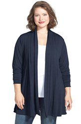 Dantelle Plus Size Women's Open Pleat Front Cardigan Ink