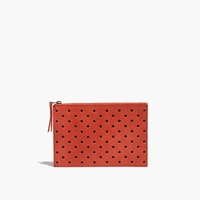 Madewell Leather Pouch Clutch In Holepunch Etruscan Clay