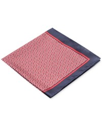 Ryan Seacrest Distinction Men's Carson Geo Pocket Square Only At Macy's Navy Red