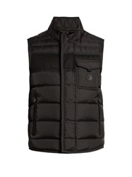 Moncler Athos Quilted Nylon Gilet Black