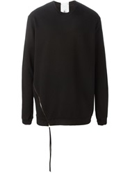 Lost And Found Rooms Zip Detail Sweatshirt Black