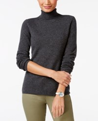 Charter Club Petite Cashmere Turtleneck Sweater Only At Macy's Cc Heather Cinder