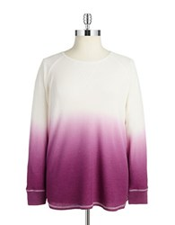 Marc New York Performance Plus Waffle Knit Ombre Shirt Ivory Aubergine