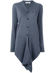 Jil Sander Long Pointy Cardigan Grey