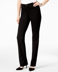 Charter Club Lexington Curvy Fit Tummy Control Pants Only At Macy's Saturated Black