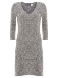 Mint Velvet Longline V Neck Tunic Grey