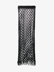 Marques Almeida Net Knit Long Skirt Black Denim