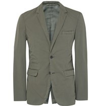 Nn.07 Green Soho Slim Fit Stretch Cotton Blazer Green