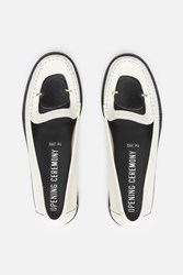 Opening Ceremony Addell Combo Leather Loafers Paris White Multi