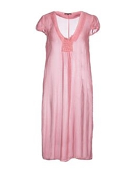 Scaglione Knee Length Dresses Pink