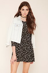 Forever 21 Daisy Print Skater Dress