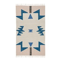 Ferm Living Kelim Blue Triangles Rug Small