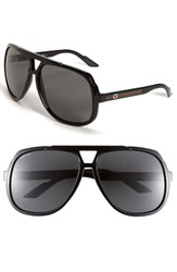 Men's Gucci Logo Temple 63Mm Aviator Sunglasses