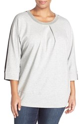 Plus Size Women's Melissa Mccarthy Seven7 Embellished Colorblock Ponte Top