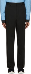 Marni Black Wool Straight Trousers
