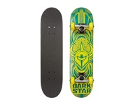 Scour Mini Complete Blue Yellow Glow In The Dark Skateboards Sports Equipment Gray