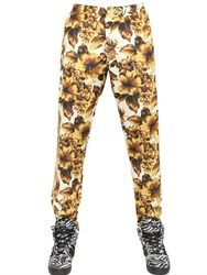 Adidas By Jeremy Scott Gold Flower Print Acetate Track Pants