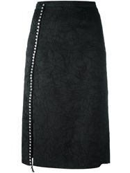 N 21 No21 Crystal Embellished Midi Skirt Black