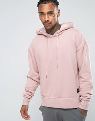 Sixth June Oversized Hoodie With Dropped Shoulder Pink