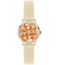Orla Kiely Patricia Leather Watch Orange