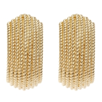 Finesse Textured Clip Earrings Gold