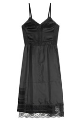Marc Jacobs Satin Dress With Lace Black