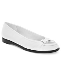 Easy Street Shoes Easy Street Giddy Flats Women's Shoes White