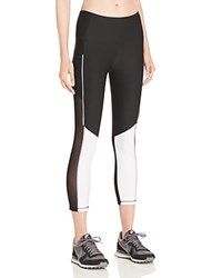 X By Gottex Colorblock Active Capri Leggings Compare At 64 Black White
