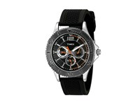 Timex Taft Street Multifunction Silicone Strap Black Watches