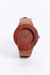 Analog Makore And Red Sanders Watch Brown