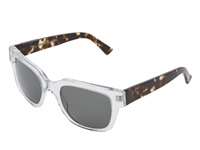 Raen Garwood Crystal Front Brindle Temple Sport Sunglasses White