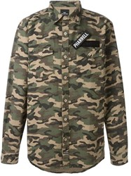 Les Artists Les Art Ists Pharrell Patch Camouflage Shirt Green