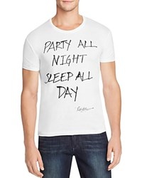 Happiness Party All Night Graphic Tee White