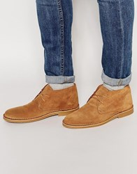Selected Homme Royce Suede Desert Boots Brown